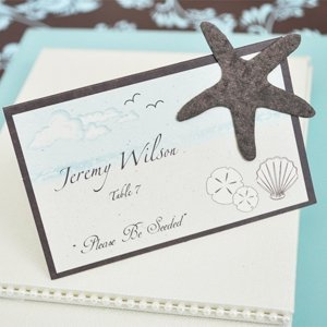 Starfish Plantable Please be Seeded Place Cards (Set of 12) image