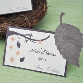 Autumn Leaf Plantable Seed Place Cards (Set of 12) image