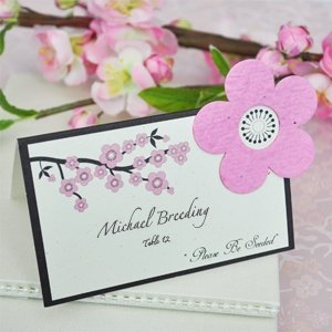 Cherry Blossom Plantable Seed Place Cards (Set of 12) image