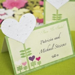 Seeded Heart Plantable Place Cards (Set of 12) image