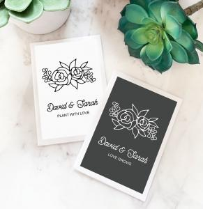Floral Silhouette Seed Packets image