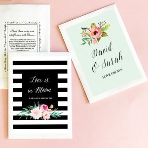 Personalized Floral Garden Flower Seed Favors image