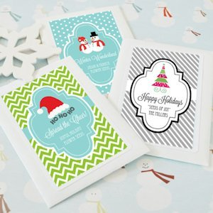Winter Holiday Personalized Seed Packet Favors image
