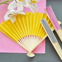 Colored Paper Hand Fans (Many Colors)