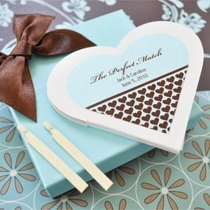 Perfect Match Personalized Heart Matchbook Favors image