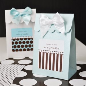 Dots and Stripes Personalized Candy Boxes (Set of 12) image
