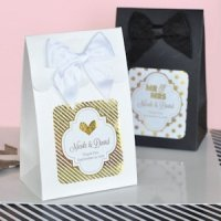 Metallic Foil Wedding Sweet Shoppe Candy Boxes