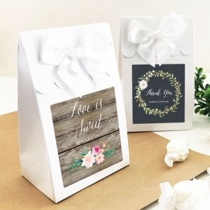 Personalized Floral Garden Sweet Shoppe Candy Boxes (set of image