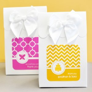 Sweet Shoppe MOD Wedding Favor Candy Boxes (Set of 12) image