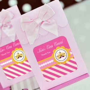 Sweet Shoppe Candy Boxes - Pink Circus Party (set of 12) image