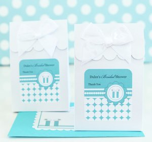 Personalized Something Blue Shower Favor Boxes (Set of 12) image
