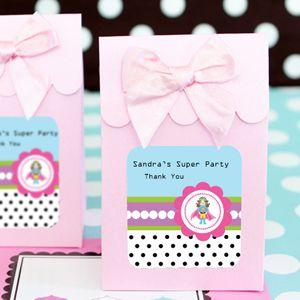 Sweet Shoppe Candy Boxes - Super Hero Girl Birthday (set of image