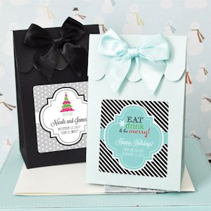 Winter Holiday Personalized Candy Shoppe Boxes (Set of 12) image