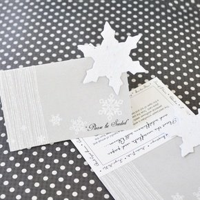 Snowflake Plantable Seed Place Cards (Set of 12) image