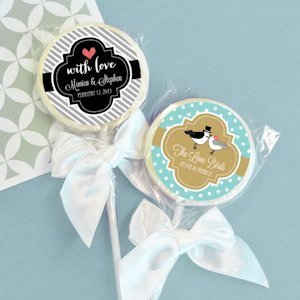 Something Sweet Personalized Wedding Favor Lollipops image
