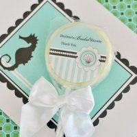 Personalized Lollipop Beach Shower Favors