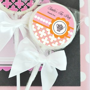 Personalized Lollipop Bridal Tea Party Favors image