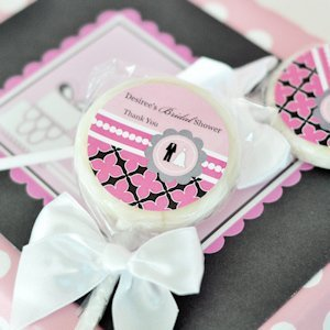 Personalized Lollipop Candy Wedding Shower Favors image