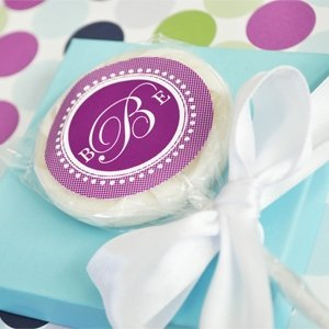 Monogrammed Lollipop Favors image
