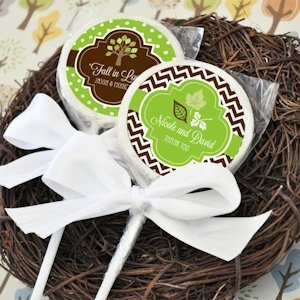 Fall for Love Personalized Edible Lollipop Favors image
