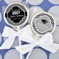Personalized Graduation Candy Lollipop Favors