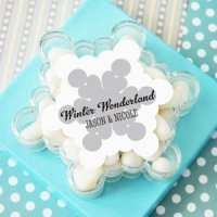 Personalized Snowflake Favor Boxes