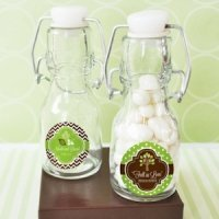 Personalized Fall for Love Mini Glass Bottle Favors