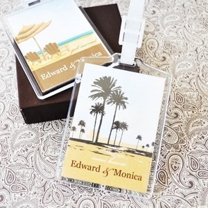 Personalized Wedding Favor Luggage Tags Elite Designs Image