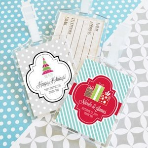 Winter Holiday Personalized Luggage Tags image