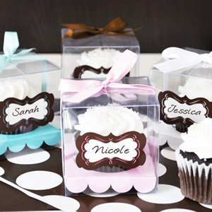 Charming Clear Cupcake Favor Boxes (Set of 12) image