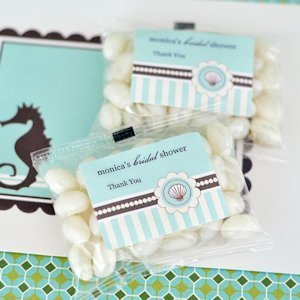 Personalized Jelly Bean Beach Theme Shower Favors image