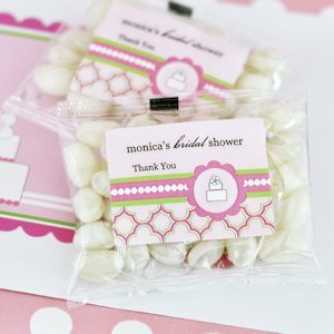 Personalized Jelly Bean Candy Favors for Bridal Showers image