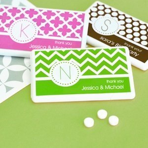 MOD Pattern Monogram Mini Mint Favors image