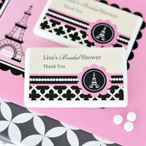 Parisian Party Personalized Mini Mint Favors image