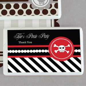 Pirate Party Personalized Mini Mint Favors image