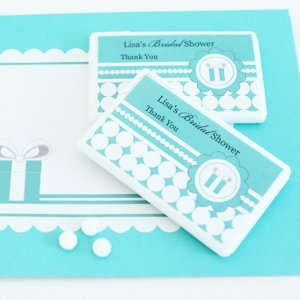 Something Blue Personalized Mini Mint Shower Favors image