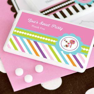 Sweet Shoppe Party Personalized Mini Mint Favors image