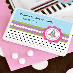 Super Hero Girl Birthday Personalized Mini Mint Favors image
