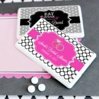 Personalized Mini Wedding Favor Mints (Many Designs)
