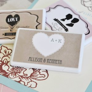 Vintage Wedding Personalized Mini Mint Favors image