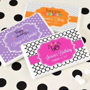 Personalized Birthday Mini Mint Favors (Many Designs) image