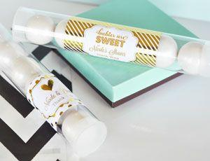 Personalized Metallic Foil Candy Tubes - Baby image