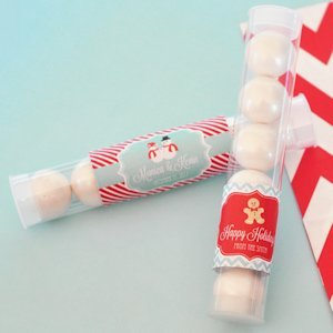 'A Winter Holiday' Personalized Candy Tubes image