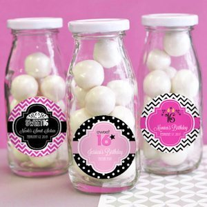 Sweet Sixteen Personalized Milk Bottles image