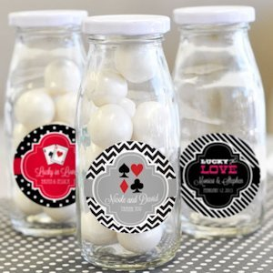 'A Lucky Pair' Personalized Milk Bottles image