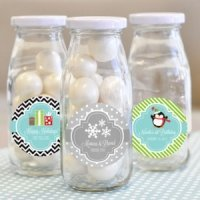 'A Winter Holiday' Personalized Milk Bottles