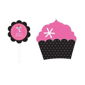 Bachelorette Party Cupcake Wrappers & Cupcake Toppers (Set o image