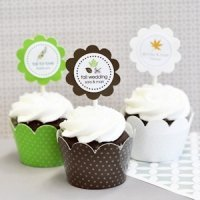 Fall Cupcake Wrappers & Cupcake Toppers (Set of 24)
