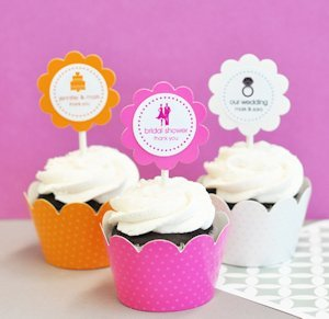 MOD Theme Silhouette Cupcake Wrappers & Toppers (Set of 24) image