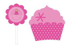 Princess Party Cupcake Wrappers & Cupcake Toppers (Set of 24 image